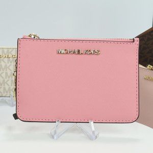 Coin Pouch with ID Holder in Saffiano Card